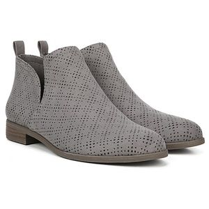 "[Dr. Scholl's] NIB ""Rate"" Perforated Suede Booties"